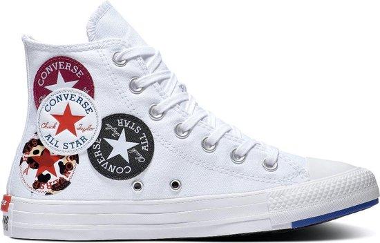 Converse All Stars Chuck Taylor 166735C Wit / Blauw / Rood-35
