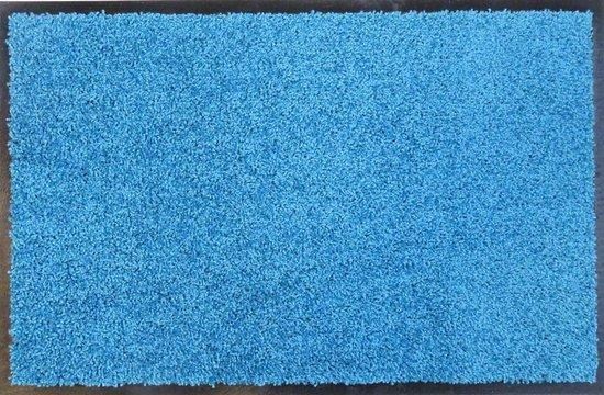 Ecologische droogloopmat turquoise - 58 x 118 cm