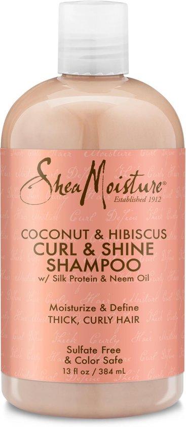 Shea Moisture Coconut & Hibiscus Curl & Shine Shampoo - 384 ml