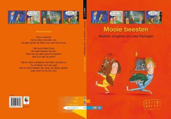 Boek cover AVI strips  -   Mooie beesten van Mariken Jongman (Hardcover)