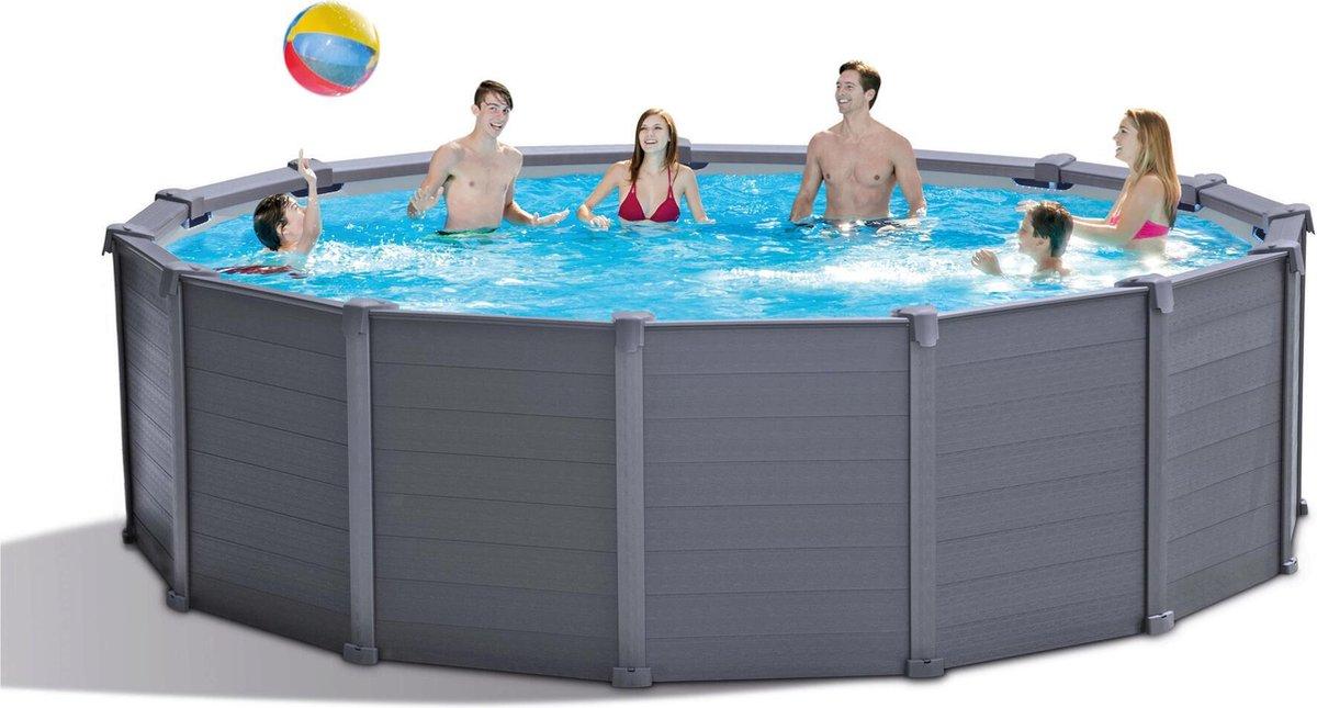 Intex Graphite Panel zwembad 478x122 cm + pomp