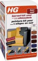 Leerverf-kit voor zitmeubels - HG - 500 + 200 ml Zwart