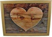 Laptray - Schootkussen houten hart