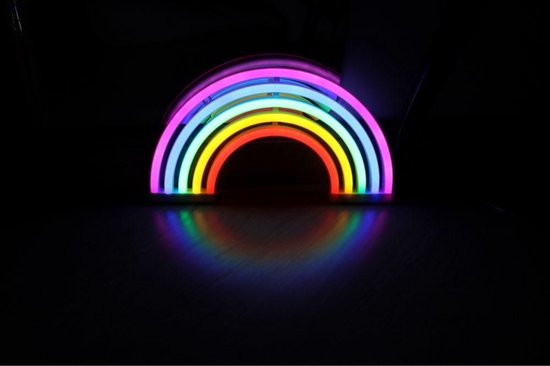 Neon Lamp Regenboog Nachtlampje Kinderen Babykamer - LED Verlichting