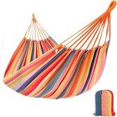 Hangmat - Hamock - 210 x 150 cm - Geel/Roze/Oranje/Blauw/Groen