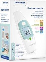 Miniland Thermosense Voorhoofd en Oor Thermometer met App en LED indicator