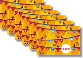 6 MAP wenskaarten met envelop - Happy Birthday - 15 x 10 cm