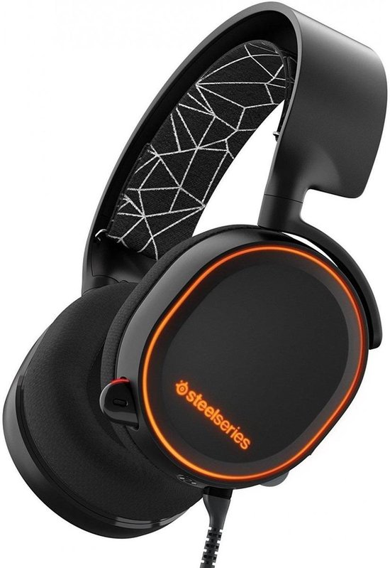 SteelSeries Arctis 5 RGB Gaming Headset - PC + PlayStation 5 - Zwart