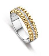 Silver Rose -R2037G-56 -Ring -925 Zilver 14 karat verguld -Cubic Zirkonia