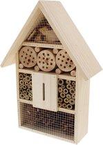 Houten insectenhotel XL - 26 x 10 x 37 cm - insectenhuis - natuur - bijenhotel - vlinderhuis - insecten - egel - tuindecoratie