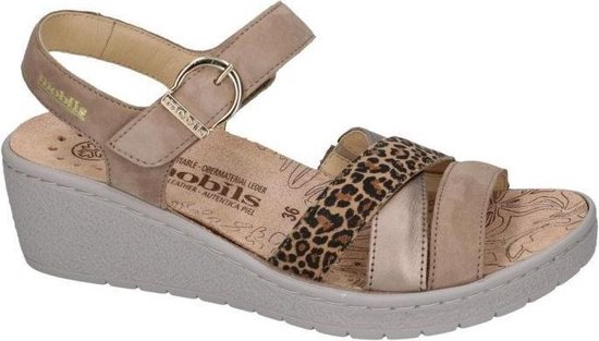 Mobils Ergonomic Dames taupe sandalen maat 40