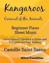 Kangaroos Carnival of the Animals Beginner Piano Sheet Music