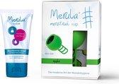 Merula menstruatie cup incl Merula lube - apple groen