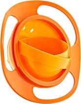 Eetbakje 360 graden - Baby Kommetje - Baby Kom - Anti knoei bakje - Oranje