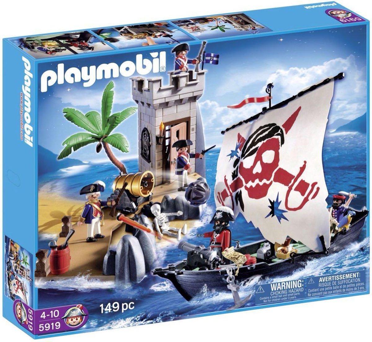 Playmobil Soldatenfort en piratenboot - 5919