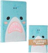 Fluffy notitieboek haai shark Puckator