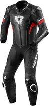 REV'IT! Hyperspeed Black Neon Red Motorcycle Suit 54