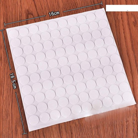 Ballon Stickers - Plafond Sticker - Muur Stickers - Ballon Plakkers - Ballon Ophangen - 100 stuks - Wit