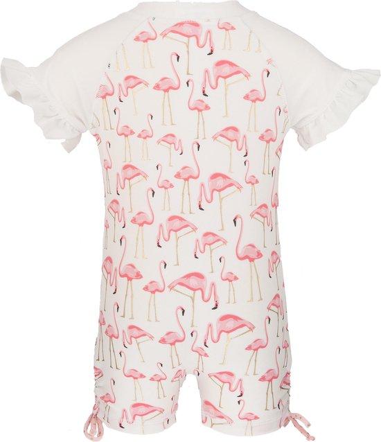 Snapper Rock - UV zwempak - korte mouwen - kinderen - Gouden flamingo
