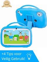 Luxies Kindertablet Extra Beschermhoes - Kinder Tablet - Kindercomputer - Educatief Speelgoed - 16GB - Android 9.0 - 7 Inch - Blauw