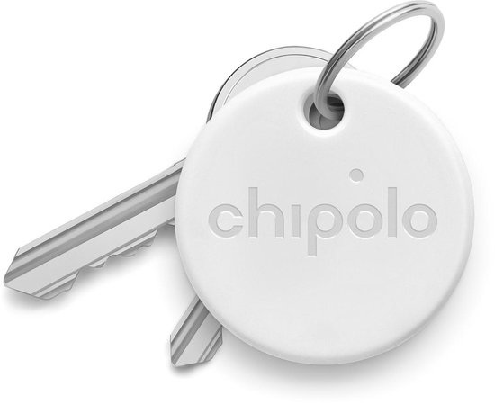 Chipolo One - Bluetooth GPS Tracker - Keyfinder Sleutelvinder - 1-Pack - Wit