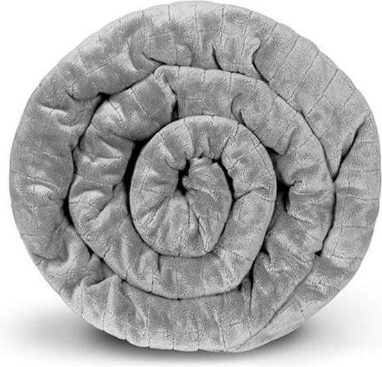 Gravity® Blanket - Verzwaringsdeken - Weighted Blanket - 10 kg - 155x220 cm - Grijs - Standaardhoes