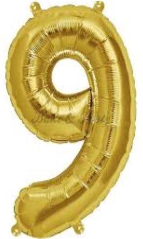 Folie ballon gouden 9