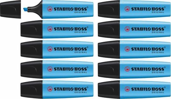 STABILO BOSS ORIGINAL Markeerstift Blauw - doos à 10 stuks