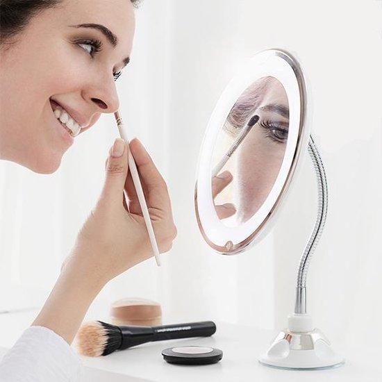 Vergrotende Make-Up Spiegel met Flexibele Arm en Zuignap