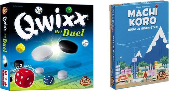 Afbeelding van het spel Spelvoordeelset Qwixx Het Duel & Machi Koro