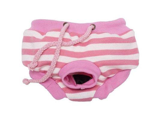 Loopsheidbroekje - Dierenkleding - Roze Gestreept - S