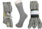 6 paar Noorse thermo sokken ( grijs ) 39-42