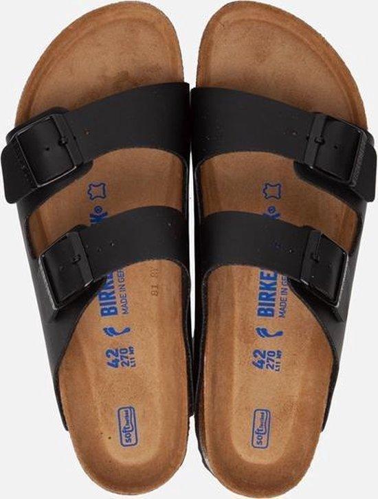 Birkenstock Arizona slippers zwart Zacht Voetbed Maat 44