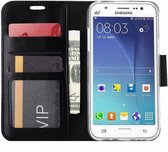 Pack   Samsung Galaxy A3 2017  Portemonnee wallet hoesje Book case Zwart + Tempered Glass Screen protector