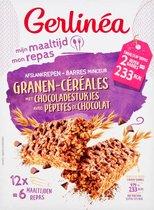 Gerlinea Maaltijdrepen - Granen & Stukjes Chocolade - 12 stuks