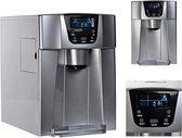 2-In-1 Elektrische Ijsblokjesmachine Met Waterdispenser - Waterkoeler Ijsblokjesmaker - Met Touch Panel & LCD Display - Ice Maker Met Water Cooler Dispenser - 12kg/24 Uur