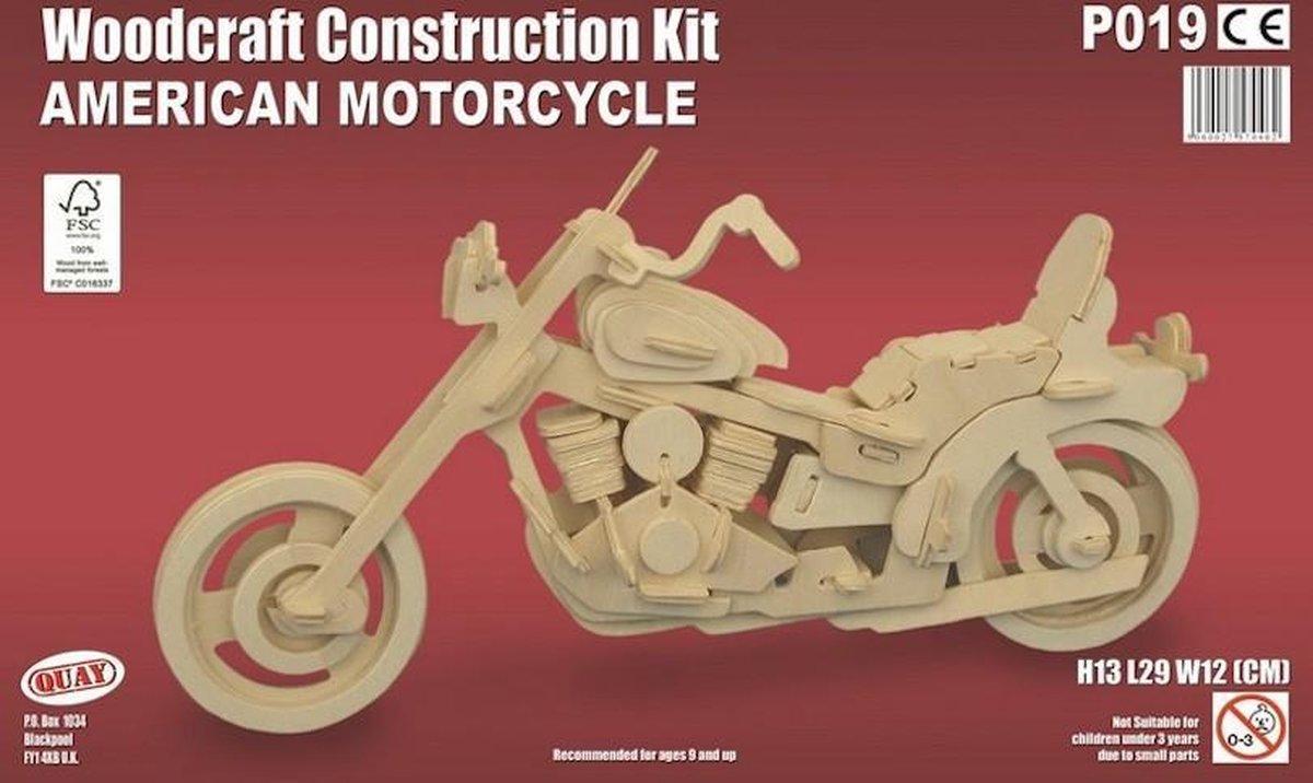 Bouwpakket 3D Puzzel  American Motorcycle - hout