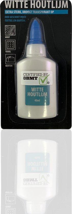 3BMT - Houtlijm - transparant - extra sterk, voor hout textiel en karton - 40 ml