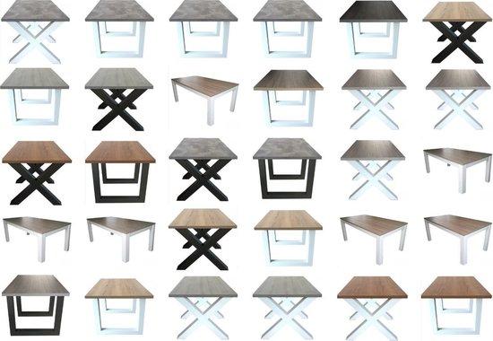 Eettafel Milaan - Grijs Eiken / Wit Onderstel - 90 x 160 cm - Ik Woon Modern