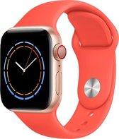 iWatch bandje – Mandarijn – 42/44 mm – Oranje – Apple Watch – Vitamine C - Sportbandje – Clementine - S/M – Siliconen - Apple Watch Serie 3/2/1 – Apple Watch Serie 5/4