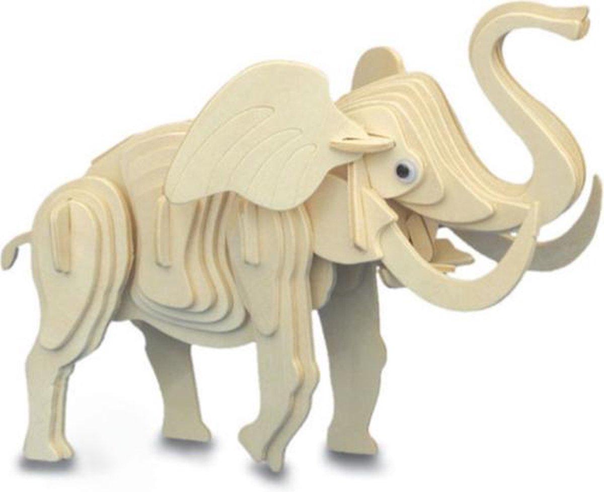 Bouwpakket 3D Puzzel Olifant - hout