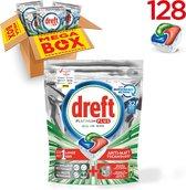 Dreft Platinum Plus Cool Blue - Kwartaalbox 4x32 Stuks - Vaatwastabletten