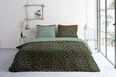 Byrklund Lazy Leopard - Dekbedovertrek - Tweepersoons - 200x200/220 cm  cm - Groen