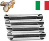 Set van 4 Cannoli Vormen   Beste Kwaliteit   Siciliaans / Italiaans   Zelf Cannoli Maken   Cannoli Maken Vorm   Buizen / Buisjes