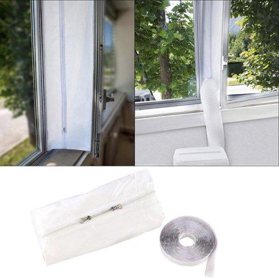 Universele Raamafdichting set voor Mobiele Airco - Airlock - Ook tegen insecten - deur of raam tot 400cm