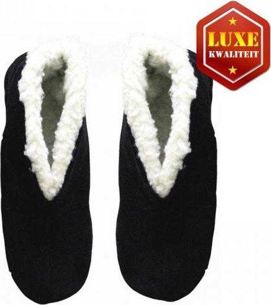 Heren schoenen   Zwarte echte suede Spaanse sloffen heren maat 40
