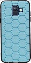 Wicked Narwal | Hexagon Hard Case voor Samsung Samsung Galaxy A6 2018 Blauw