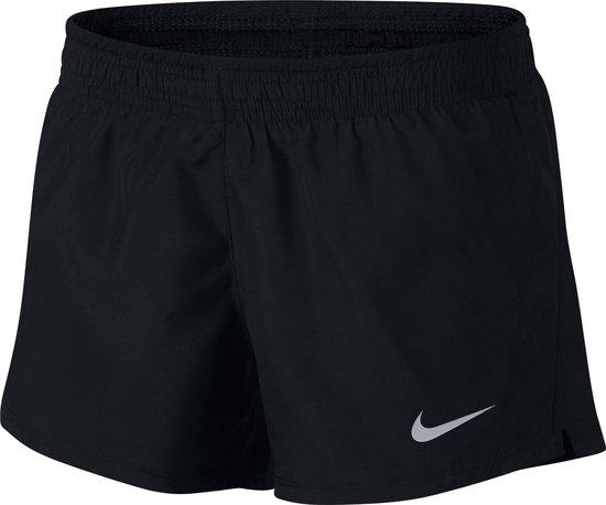 Nike 10K Short Sportshort Dames - Black/Black/Black/Wolf Grey - Maat M