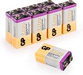 GP Extra Alkaline batterijen 9V batterij 9 volt batterij 6LR61 - 8 stuks