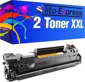 Tito-Express PlatinumSerie 2x HP CE285A 85A XL Zwart Toner alternatief voor HP CE285A 85A Zwart